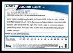 2013 Topps Update #21  Junior Lake  Back Thumbnail