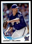 2013 Topps Update #19  Johnny Hellweg  Front Thumbnail