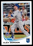 2013 Topps Update #16   -  Alex Gordon All-Star Front Thumbnail