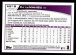 2013 Topps Update #15  D.J. LeMahieu  Back Thumbnail
