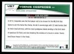 2013 Topps Update #7   -  Yoenis Cespedes Home Run Derby Back Thumbnail
