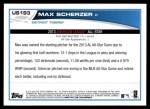 2013 Topps Update #193   -  Max Scherzer All-Star Back Thumbnail