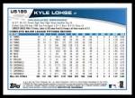 2013 Topps Update #189  Kyle Lohse  Back Thumbnail