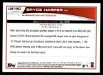 2013 Topps Update #180   -  Bryce Harper All-Star Back Thumbnail