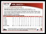 2013 Topps Update #179  Joe Smith  Back Thumbnail