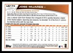 2013 Topps Update #174  Jose Mijares  Back Thumbnail