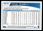 2013 Topps Update #170  Miguel Tejada  Back Thumbnail