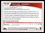 2013 Topps Update #168  Michael Wacha  Back Thumbnail