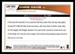 2013 Topps Update #163   -  Chris Davis All-Star Back Thumbnail