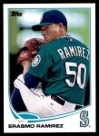 2013 Topps Update #158  Erasmo Ramirez  Front Thumbnail