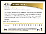 2013 Topps Update #150  Gerrit Cole  Back Thumbnail