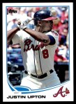 2013 Topps Update #140  Justin Upton  Front Thumbnail