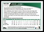2013 Topps Update #139  John Jaso  Back Thumbnail
