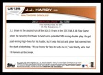 2013 Topps Update #125   -  J.J. Hardy All-Star Back Thumbnail