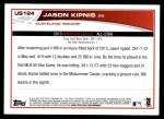 2013 Topps Update #124   -  Jason Kipnis All-Star Back Thumbnail