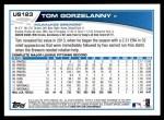 2013 Topps Update #123  Tom Gorzelanny  Back Thumbnail