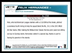 2013 Topps Update #119   -  Felix Hernandez All-Star Back Thumbnail