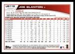 2013 Topps Update #118  Joe Blanton  Back Thumbnail