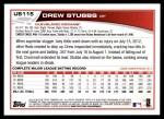 2013 Topps Update #115  Drew Stubbs  Back Thumbnail