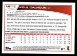 2013 Topps Update #110  Kole Calhoun  Back Thumbnail