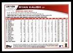 2013 Topps Update #108  Ryan Kalish  Back Thumbnail