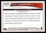 2013 Topps Update #104   -  Matt Carpenter All-Star Back Thumbnail