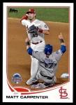 2013 Topps Update #104   -  Matt Carpenter All-Star Front Thumbnail