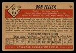 1953 Bowman #114  Bob Feller  Back Thumbnail