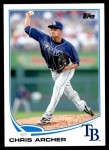 2013 Topps Update #320  Chris Archer  Front Thumbnail