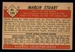 1953 Bowman #120  Marlin Stuart  Back Thumbnail