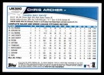 2013 Topps Update #320  Chris Archer  Back Thumbnail