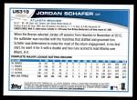 2013 Topps Update #319  Jordan Schafer  Back Thumbnail