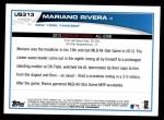 2013 Topps Update #313   -  Mariano Rivera All-Star Back Thumbnail