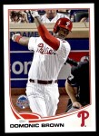 2013 Topps Update #309   -  Domonic Brown All-Star Front Thumbnail