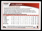 2013 Topps Update #302  Yan Gomes  Back Thumbnail