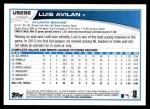 2013 Topps Update #298  Luis Avilan  Back Thumbnail