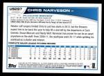 2013 Topps Update #297  Chris Narveson  Back Thumbnail