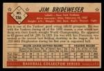 1953 Bowman #136  Jim Brideweser  Back Thumbnail