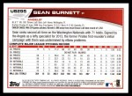 2013 Topps Update #295  Sean Burnett  Back Thumbnail
