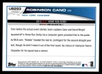 2013 Topps Update #293   -  Robinson Cano Home Run Derby Back Thumbnail