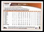 2013 Topps Update #292  Zach Britton  Back Thumbnail
