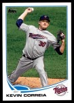 2013 Topps Update #289  Kevin Correia  Front Thumbnail