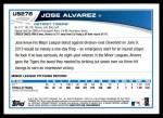 2013 Topps Update #278  Jose Alvarez  Back Thumbnail