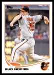 2013 Topps Update #275  Bud Norris  Front Thumbnail