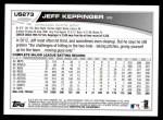 2013 Topps Update #273  Jeff Keppinger  Back Thumbnail