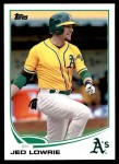 2013 Topps Update #266  Jed Lowrie  Front Thumbnail