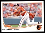 2013 Topps Update #260  Darren O'Day  Front Thumbnail