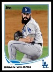 2013 Topps Update #254  Brian Wilson  Front Thumbnail