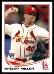 2013 Topps Update #253  Shelby Miller  Front Thumbnail