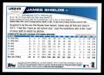 2013 Topps Update #245  James Shields  Back Thumbnail